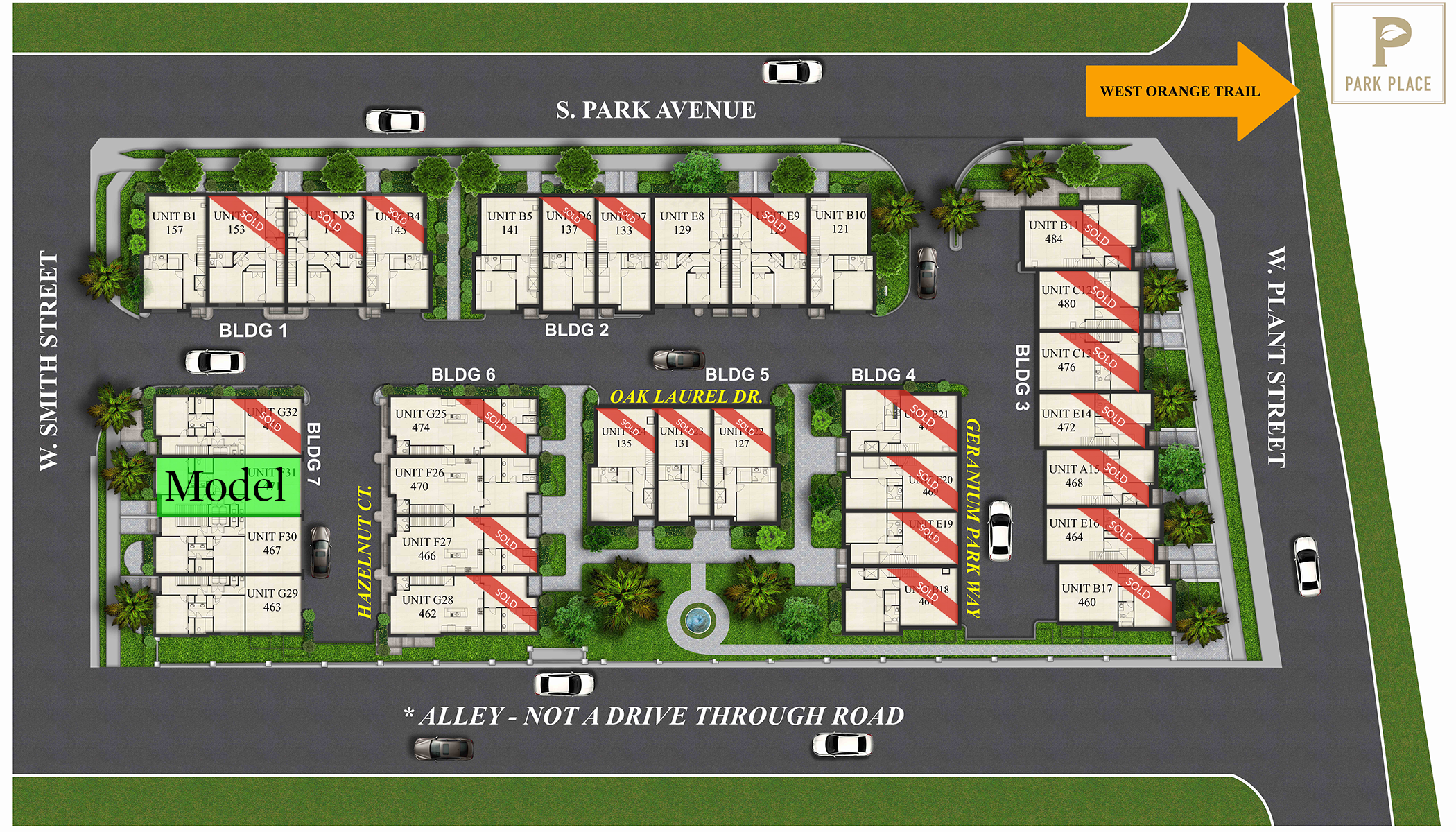 Park Place Winter Garden Site plan