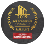 Park Place Top Townhome Project award from Orlando Business Journal